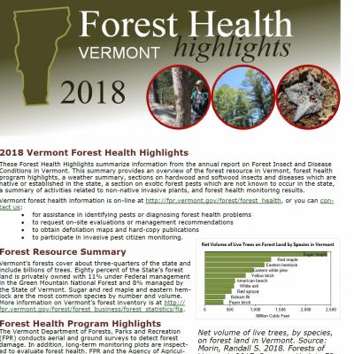 2018 forest health highlights