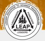 Logger Education to Advance Professionalism (LEAP) Logo